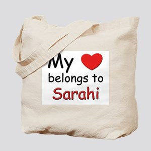 My heart belongs to sarahi Tote Bag